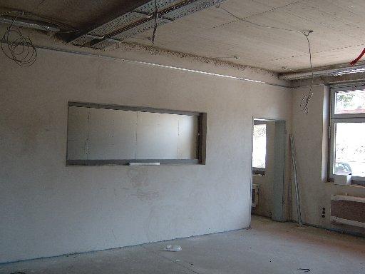 Der spätere Werkraum lässt einen Blick in Maschinenraum zu.
