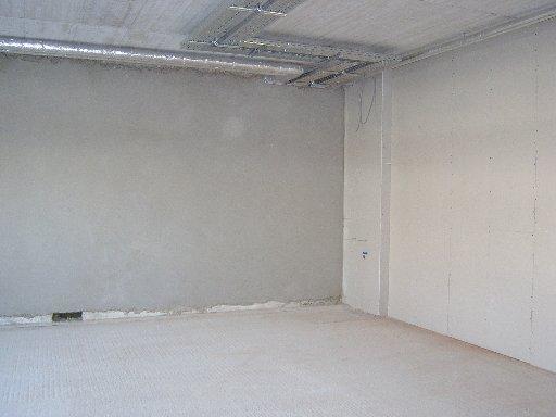 Viele Wände sind schon sauber verputzt.
