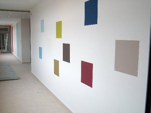 Manche Farbflächen bestehen aus kleinen Quadraten.