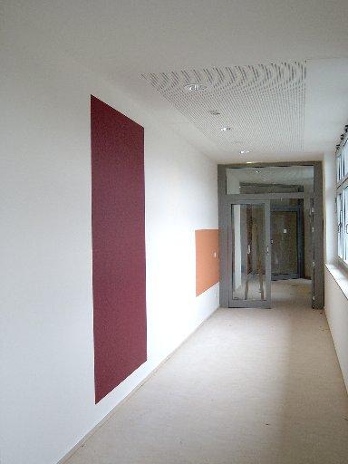Jeder Flur und jeder Raum ist später durch seine Farbgestaltung identifierbar.