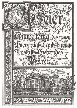 Einweihung des neuen Schulgebäudes 1895