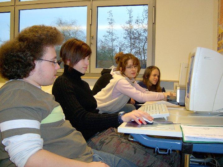 Die Medienecken in den Klassenräumen waren für alle Schüler wichtige Informationsquellen.