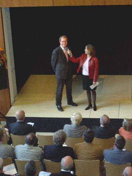 Landesrat Manfred Müller im Interview mit Frau Steinhauer.
