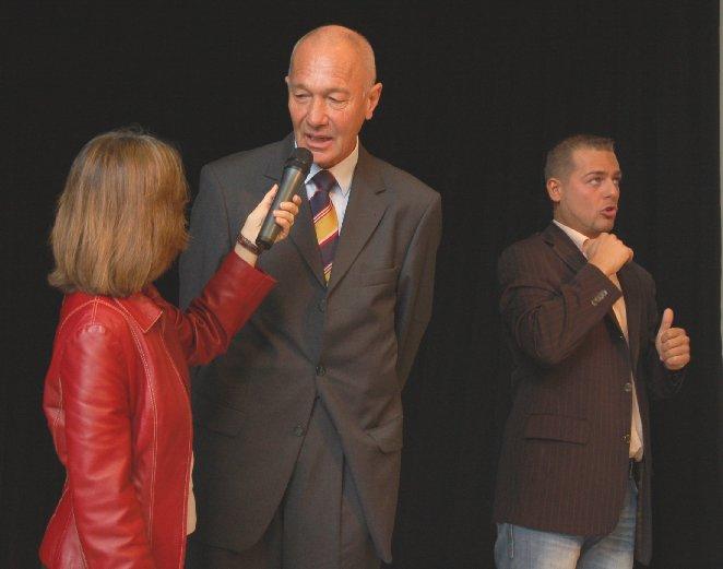 Bürgermeister Wolfgang Runge im Interview mit Frau Steinhauer.