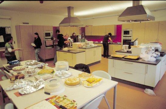 Natürlich gab es auch in der Küche jede Menge zu tun.