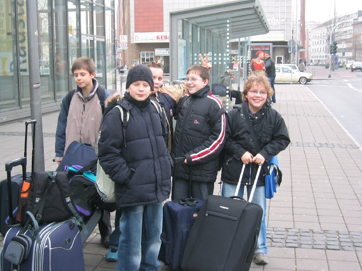 Hoffnungsvolle Ankunft am Bahnhof in Münster