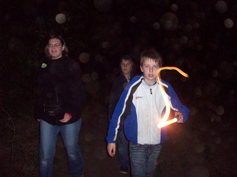 Auf der Nachtwanderung brauchten wir ein Laserschwert.