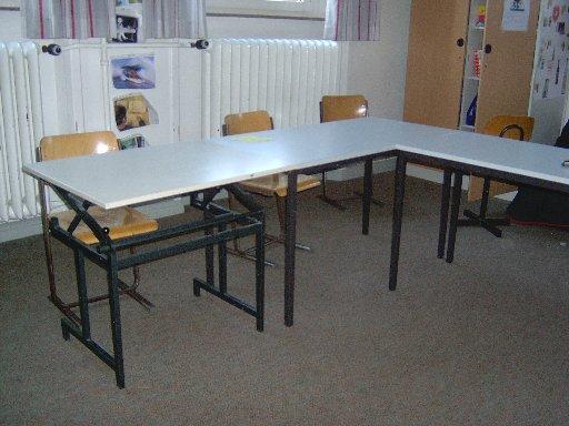 Diese Tische haben sich die Schüler redlich erkämpft und verdient.