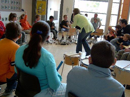 Die Philharmoniker der Moritz-von-Büren-Schule am in Aktion.