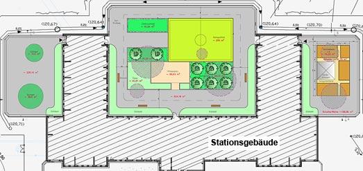 Bauzeichnung der Höfe mit geplanten Änderungen