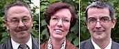 Porträtfotos des kommissarischen Führungstrios