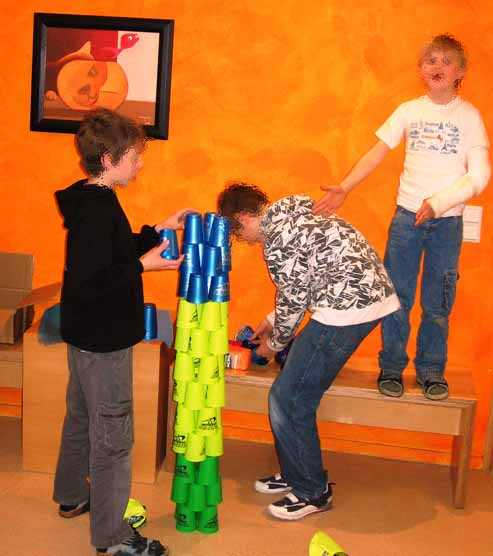Speed Stacking AG in der Tagesklinik Soest