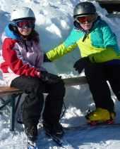 Skifreizeit 2013: Oxana und Jan