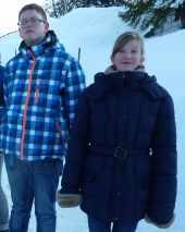 Skifreizeit 2013: Leon und Monique