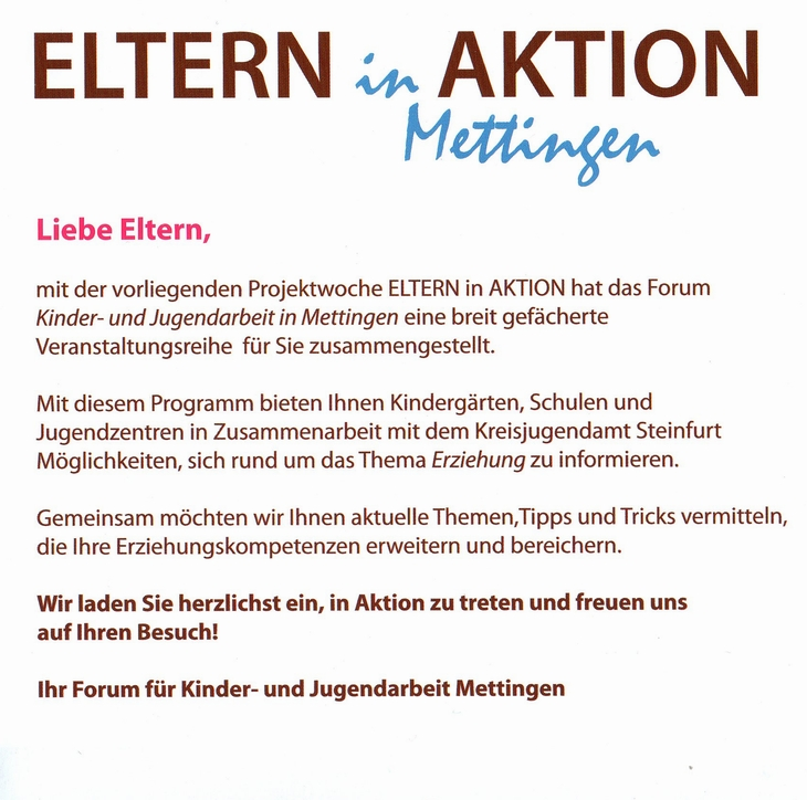 Eltern in Aktion