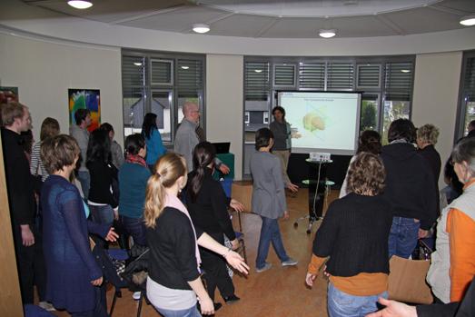 In Bewegung: die Zuhörer im Forum Gesundheit