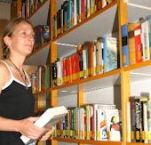 Bibliothekarin Anja Hufnagel