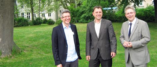 Prof. Assion, Prof.Plewnia, Prof. Folkerts (von links nach rechts)