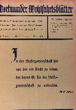 Dortmunder Wohlfahrtsblätter