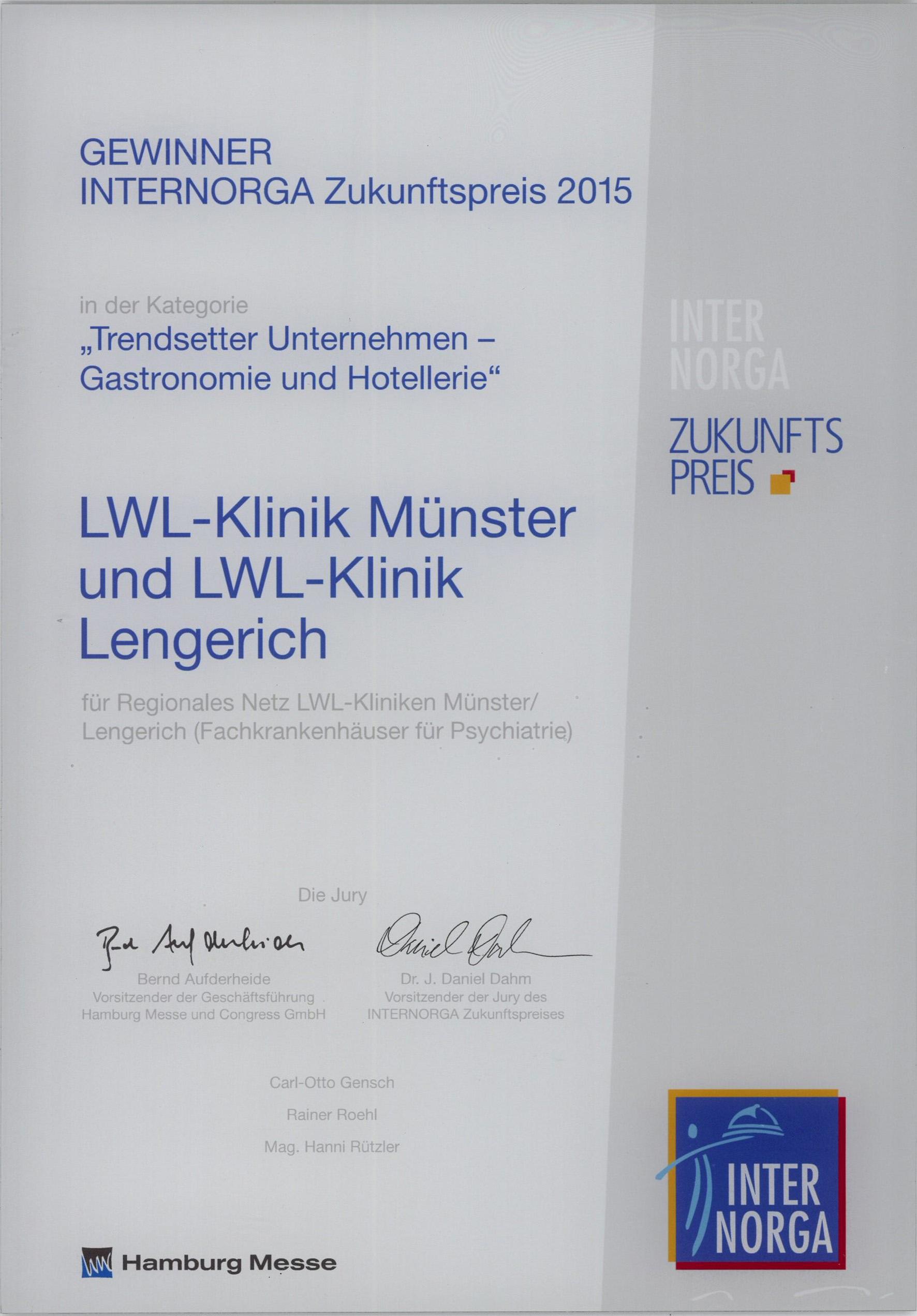 LWL   Die Zertifikate und Auszeichnungen der LWL-Klinik Lengerich ...