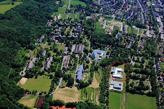 Luftbildaufnahme des LWL-Pflegezentrums Lengerich