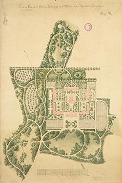 Der Gartenplan von Peter-Joseph-Lenné aus dem Jahr 1863.