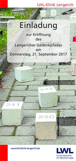 Titelseite der Einladung zur Eröffnung des Gedenkpfades