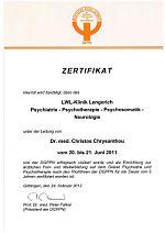 Foto zeigt Zertifikat DGPPGN, Downloadmöglichkeit weiter unten
