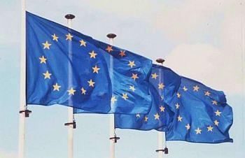 Foto zeigt mehrere EU-Flaggen
