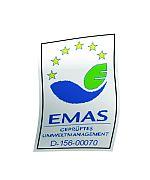 Foto zeigt Logo des Emas-Siegels
