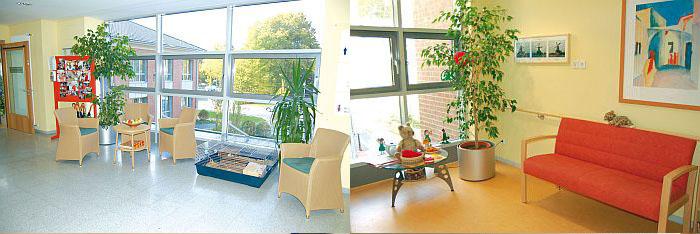 Foto zeigt Innenräume des LWL-Pflegezentrums Münster, Ernst Kirchner Haus