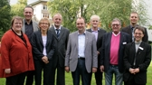 Die KTQ-Visitoren Heike Rautenberg (von links), Matthias Klostermann, Dr. Christa Welling und Dieter Ackermann gratulierten Dr. Josef Leßmann, Helmut S. Ullrich und Rüdiger Keuwel als Klinik-Betriebsleitung sowie den QM-Beauftragten Dr. Tim-Nicolas Korf und Andreas Rödel zur gelungenen Re-Zertifizierung.