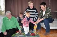 Bild mit der Gastfamilie