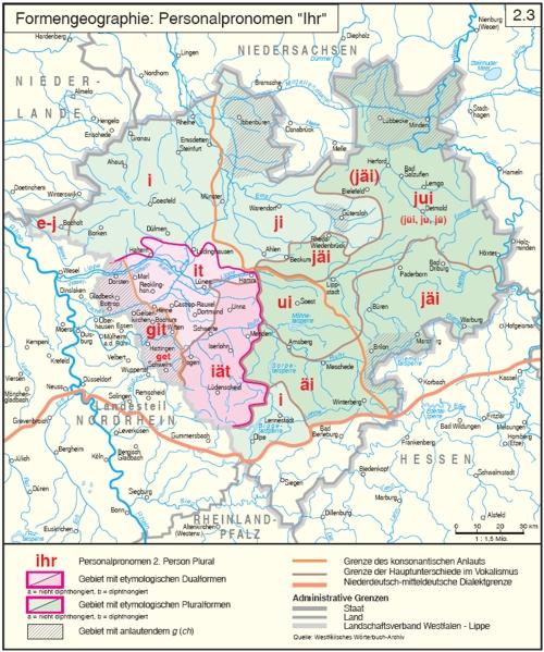 'ihr' in den westfälischen Dialekten