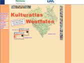 Das Bild zeigt die Startseite des Internetportals 'Kulturatlas Westfalen'
