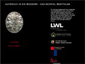 Das Bild zeigt die Startseite des Internetportals 'Aufbruch in die Moderne'