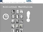Das Bild zeigt die Startseite des Internetportals 'Bibliothek Westfalica' der Literaturkommission für Westfalen