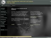 Das Bild zeigt die Startseite des Internetportals 'Westfälisches Autorenlexikon'