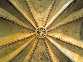 Das Bild zeigt einen Ausschnitt aus einem Deckengewölbe. Foto: LWL