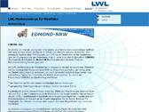 Das Bild zeigt die Startseite des Internetportals 'EDMOND'
