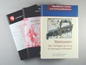 Das Bild zeigt Publikationen des LWL-Archivamts für Westfalen. Foto: LWL
