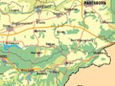 Das Bild zeigt einen Ausschnitt aus einer Landkarte. Foto: Geographische Kommission für Westfalen