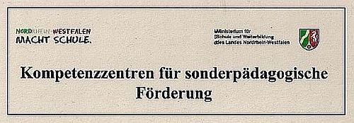 Logo Kompetenzzentren für sonderpädagogische Förderung des Minsisteriums für Schule und Wissenschaft des Landes NRW