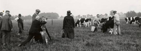 Dieses Bild zeigt Dreharbeiten eines historischen Films