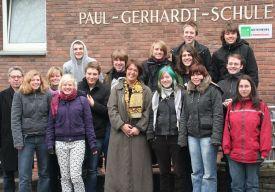 Schülerinnen und Schüler der Film-AG in der Paul-Gerhardt-Realschule [rechts]
