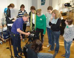 Übungseinheit der Film-AG in der Paul-Gerhardt-Realschule