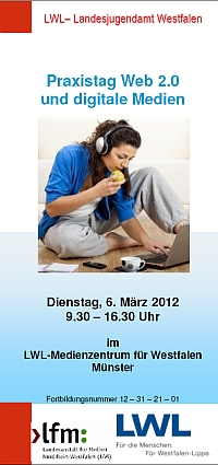 Flyer Praxistag Web 2.0 und digitale Medien [rechts]