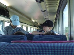 Bahnfahrt nach Sylt