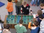 Hier seht ihr ein Spiel der Mittelstufe im Achtelfinale