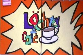"""Das Schülercafé gibt es schon seit ein paar Jahren - das """"Logo"""" des Löchtercafés stammt aus der """"Gründerzeit""""."""